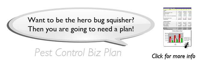 Exterminator Service Bug Man Start Up Business Plan